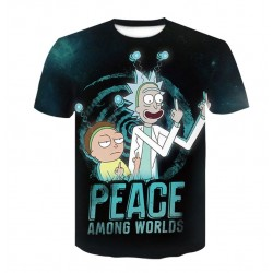 T Shirt Rick et Morty Noir