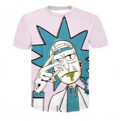 T Shirt Rick et Morty Rose