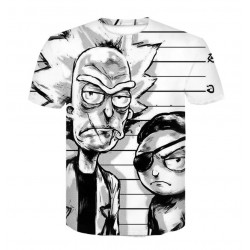 T Shirt Rick et Morty Blanc