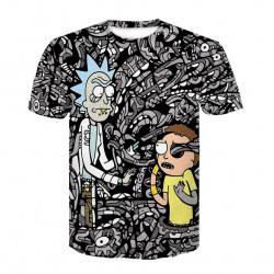 T Shirt Rick et Morty Gris