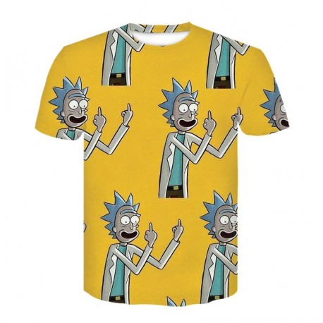 Tee Shirt Rick et Morty Jaune