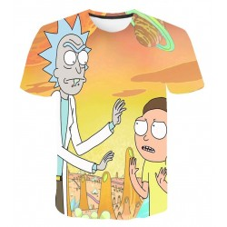 Tee Shirt Rick et Morty Orange