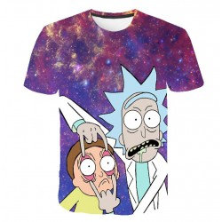T Shirt Rick et Morty Mauve