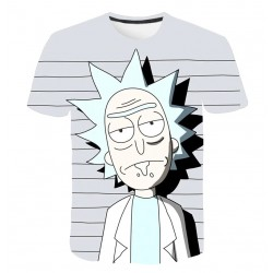 Tee Shirt Rick et Morty Gris
