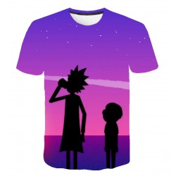 Tee Shirt Rick et Morty Mauve