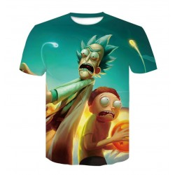 Tee Shirt Rick et Morty Bleu